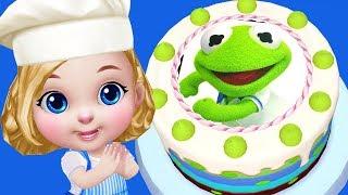 Muppet Babies | Kermit & Fozzie Bear Disney Junior Birthday Cake  | Real Cake Maker 3D App For Kids