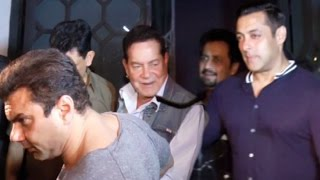 Drunk Salman Khan Protects Father Salim Khan At Aayush Sharma Birthday Party