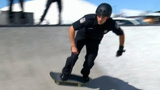Quebec officer using skateboarding to bring down barriers