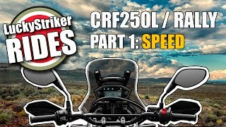 2017 Honda CRF250 L / Rally speed test