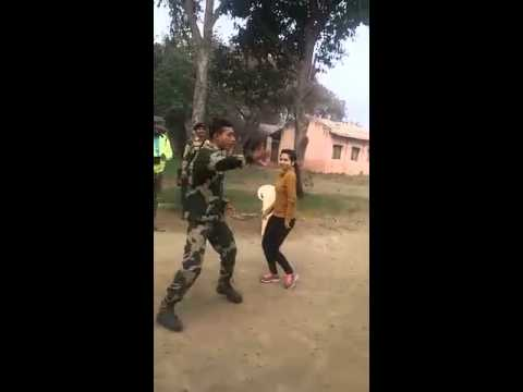 Indian soldier and pretty desi girl amazing dance