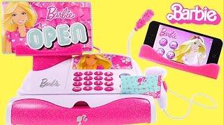 Barbie App-rific Cash REGISTER - 51 Piece Barbie Checkout Toy Unboxing