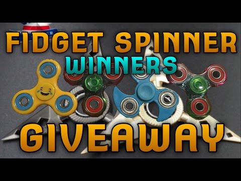 ANNOUNCING THE GIVEAWAY WINNERS FREE FIDGET SPINNERS