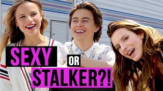 Sexy or Stalker? w/ Nash Grier, Bella Thorne and the cast of YOU GET ME Movie!