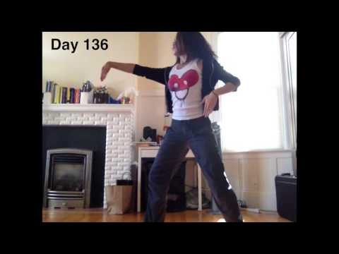Girl Learns to Dance in a Year TIME LAPSE