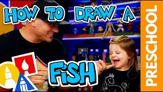 Drawing With My Two Year Old - A Fish