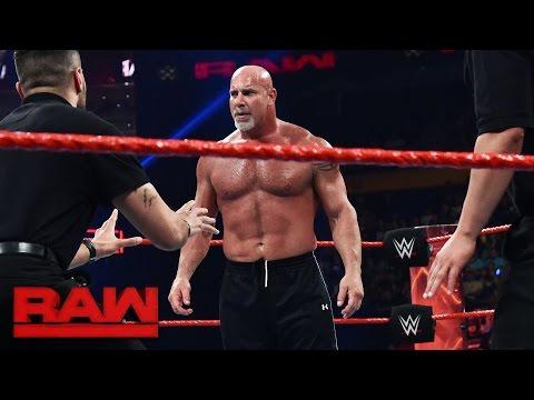 Goldberg and Brock Lesnar meet face-to-face before Survivor Series: Raw, Nov. 14, 2016