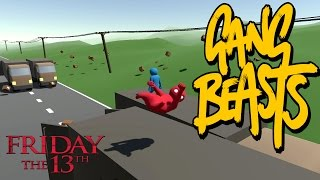Gang Beasts - Happy Friday the 13th [Father and Son Gameplay]