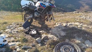 Howto: Repair front tire flat in the wild on your BMW R 1200 GS Adventure
