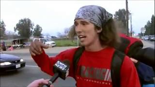 Kai The Homeless Hitchhiker Surfer Uses Hatchet To Stop 'Crazed' Driver-'Funniest News Report Ever'
