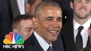 Download President Barack Obama's Best Jokes During Meeting With Chicago Cubs | NBC News 3Gp Mp4