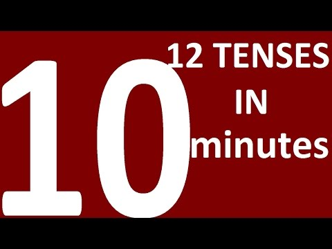ALL 12 ENGLISH TENSES in 10 MINUTES. Learn tenses in English grammar with examples
