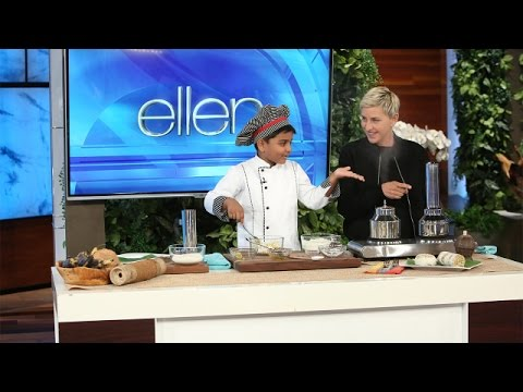 6 Year Old Chef Kicha Cooks with Ellen