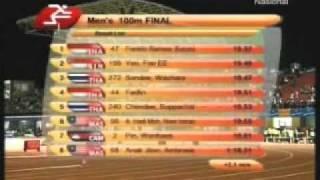 Lari 100m  Final, Franklin Ramses Burumi - Sea Games XXVI 2011