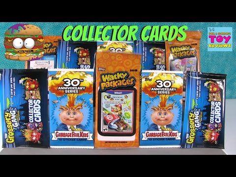 Collector Cards Stickers Palooza Grossery Gang Garbage Pail Kids Wacky Packages PSToyReviews