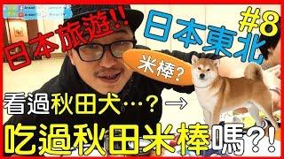 【日本旅遊】日本東北旅遊去》#Day3看過秋田犬!?但你吃過秋田米棒嗎!?|日本旅游|Travel in Japan|日本トラベル