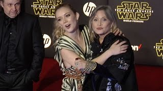 "Carrie Fisher & Billie Lourd ""Star Wars The Force Awakens"" World Premiere"