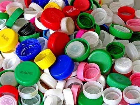 Come riutilizzare i TAPPI delle bottiglie Riciclo creativo