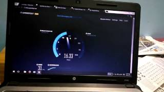 Airtel 4G Speed Test on Laptop - Download speed 18.45 Mbps