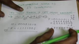Mathematical work of 2's complement bangla lecture | HSC ICT Bangla tutorial