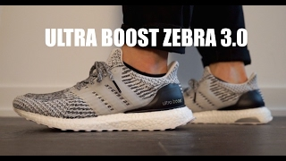 ADIDAS ULTRA BOOST 3.0 ZEBRA OREO SIZE 10 MENS VNDS