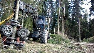 Valmet 901 - 88 with 942 Harvester Head - Camera Outside