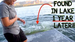 We Found a Working Scooter Underwater In Lake - FOUND OWNER!!! (Using Dive Portable Lungs)