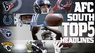 AFC South Top 5 Offseason Headlines Heading into the 2017 Season! | NFL NOW