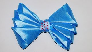 Do it yourself crafts - How to Make Simple Easy Bow/ Ribbon Hair Bow Tutorial / DIY beauty and easy