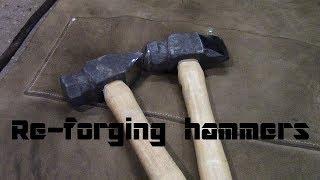 re-forging hammers, ball, cross, straight peen