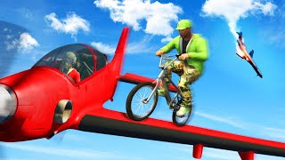 WING SURFING AT 350MPH! (GTA 5 Funny Moments)