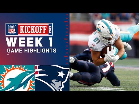 Dolphins vs. Patriots Week 1 Highlights NFL 2021