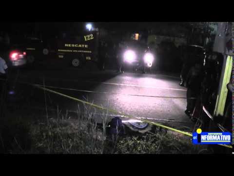 Persona de Sexo Masculino fue Atropellado en Cantón el Campamento Chiquimulilla