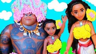 Disney MOANA MOVIE New Princess ~ Way To Moana MAKEOVER Barbie Doll Parody Ocean Funny Kids Toys