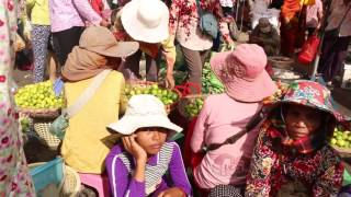 Asian Market Street Food, My Local Village Food In The City, Buying Foods In Cambodian Market