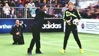 LOL: Will Smith & Jaden Smith vs Van Der Sar & Lehmann - Penalty Shoot-Out