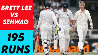 Brett Lee Hits Sehwag TWICE on the Helmet AND THEN Shewag DECIMATES Australia in their Own Backyard!