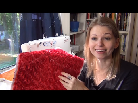 How to Quilt with Minky Fabrics Free Motion Quilting Paisley with Leah Day