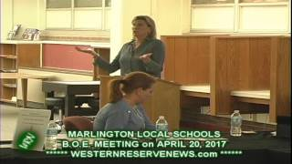 MARLINGTON BOARD OF EDUCATION TREASUER LESLIE PIERCE EXPLAINS NEED FOR LEVY
