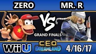 CEO Dreamland 2017 Smash 4 - TSM | ZeRo (Diddy Kong) Vs. Elevate | Mr. R (Sheik/Cloud) SSB4 GF