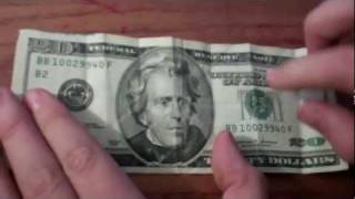 osama and twin towers in 20 dallor bill?????