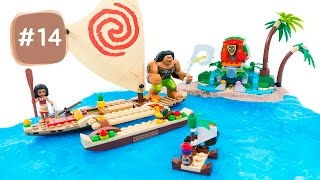 Moana Shiny Beach! DIY How to Make Kinetic Sand Beach LEGO Scene #14 - By MagicPang