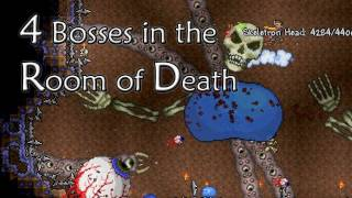 Terraria - Epic 4 bosses in Room of Death
