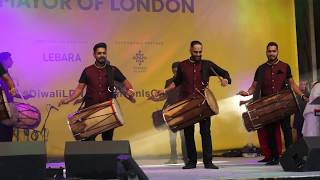 London School of Dhol - Diwali on the Square 2018