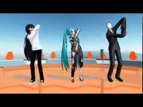 Galaxias! - Miku Zombie, Slenderman y Jeff the Killer
