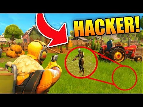 PEOPLE ARE HACKING UNDER THE MAP Fortnite Battle Royale