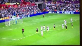 Sergio Aguero panenka penalty vs Swansea 2016