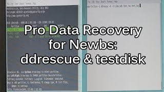 Data Recovery Tutorial - Getting started with DDRescue and TestDisk