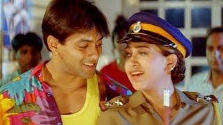 Salman Khan, Krishma Kapoor & Sakti Kapoor's intelligent robbery - Judwaa - Comedy Scene