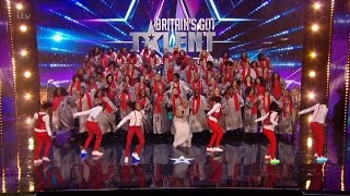 Britain's Got Talent 2016 S10E02 100 Voices of Gospel Incredibly Fun & Energetic Choir Full Audition